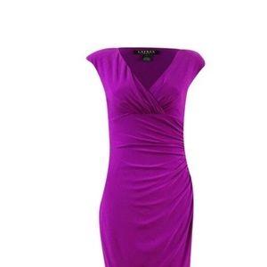 LAUREN Ralph Lauren purple knee-length dress